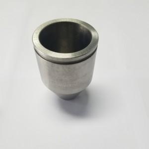 Tungsten iridium nozzle with iridium tube inserted