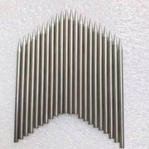 Sharpened tungsten needle